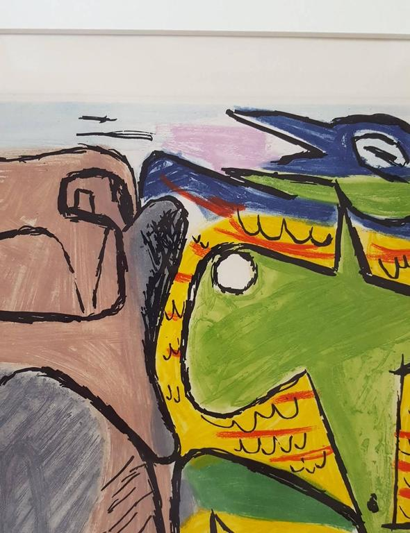Unité, Planche 3 (Set of 2) - Beige Animal Print by Le Corbusier