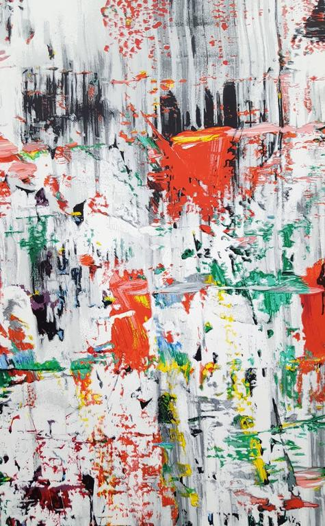 "An original 42 color handmade screen print exhibition poster on Somerset rag paper by German artist Gerhard Richter (1932-) titled ""EIS 11, Ice 2"", 2003. Published by the Lincoln Center for the Performing Arts, Inc., New York City. Text at"