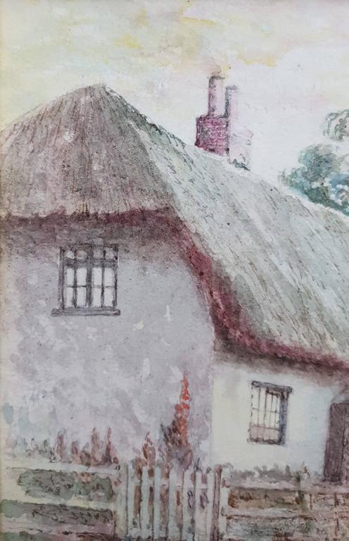 Cottage at Huttoft, Lincolnshire, UK - Gray Landscape Art by Harry Turner