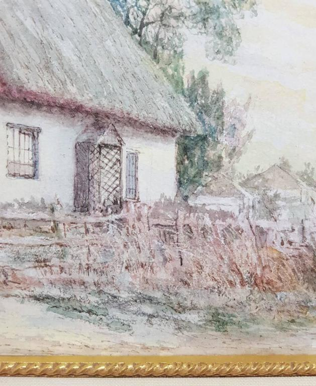 An original signed watercolor on paper by English artist Harry Turner (1908-?) titled