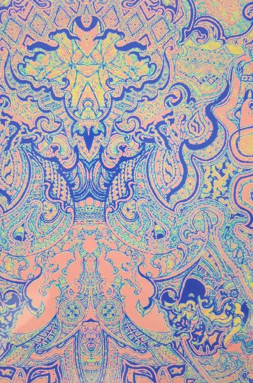 Persian Rug - Gray Abstract Print by Jack Graves III