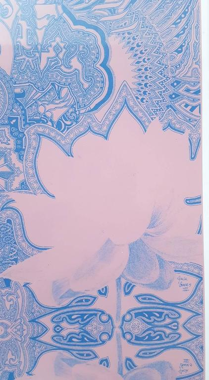 """A signed limited edition giclee on Epson enhanced matte paper by American artist Jack Graves (1988-) titled """"Lotus Temple 2"""", 2016. Comes from the limited edition of 50. Hand signed and numbered by Graves lower left and right. Artist's"""