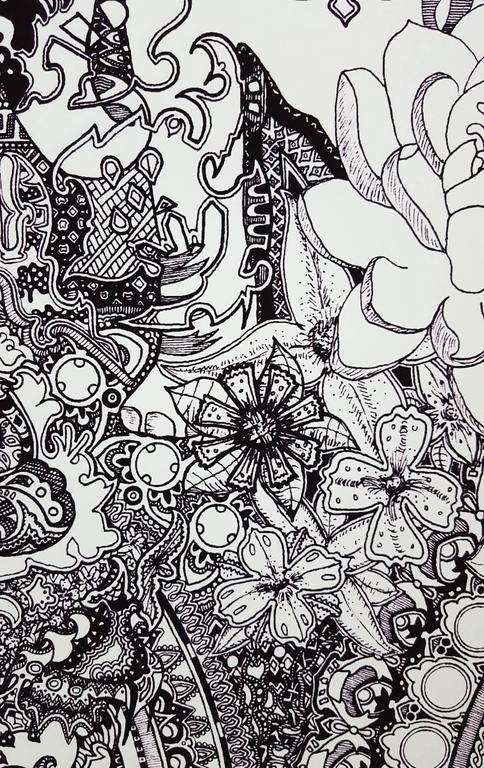 Heavy Shiny - Gray Abstract Print by Jack Graves III