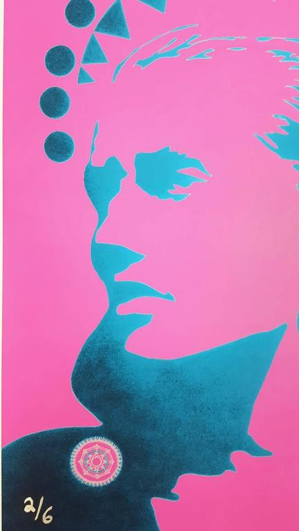 Guinevere Van Seenus Icon (Pink) - Purple Portrait Print by Jack Graves III