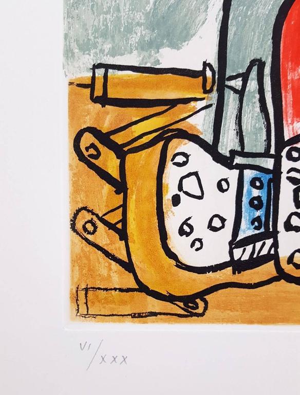 Unité, Planche 5 (Set of 2) - Surrealist Print by Le Corbusier