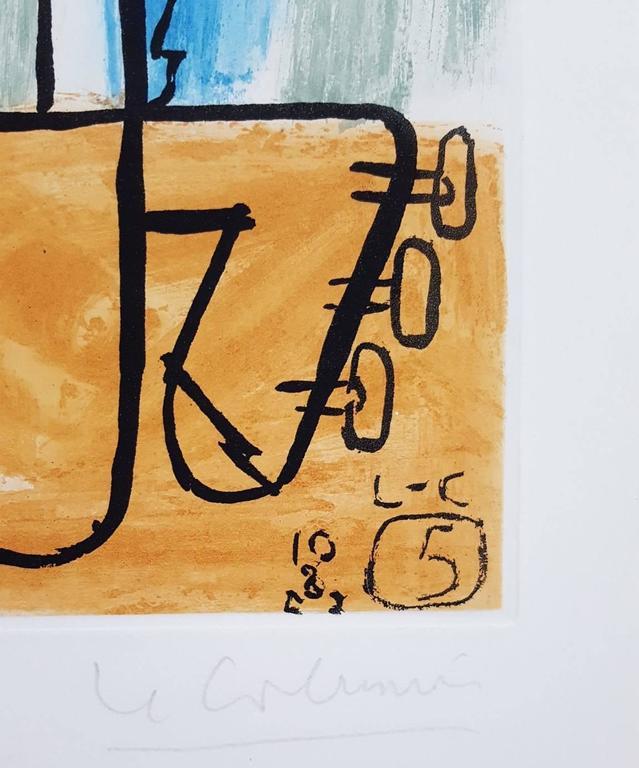 Unité, Planche 5 (Set of 2) - Beige Interior Print by Le Corbusier