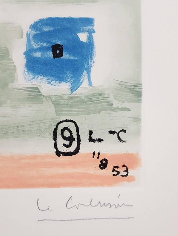Unité, Planche 9 (Set of 2) - Gray Nude Print by Le Corbusier