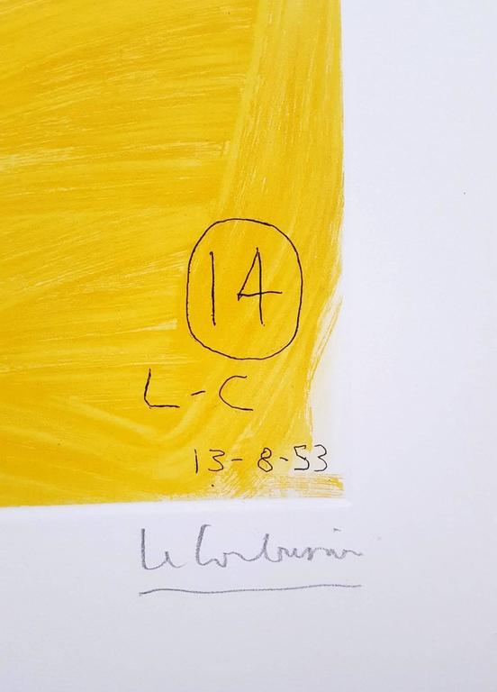 Unité, Planche 14 (Set of 2) - Beige Animal Print by Le Corbusier