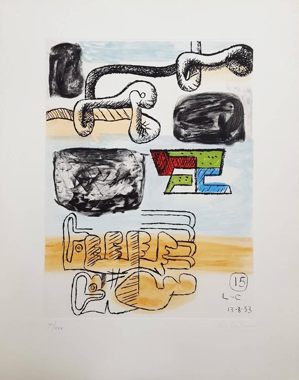 Unité, Planche 15 (Set of 2) - Print by Le Corbusier