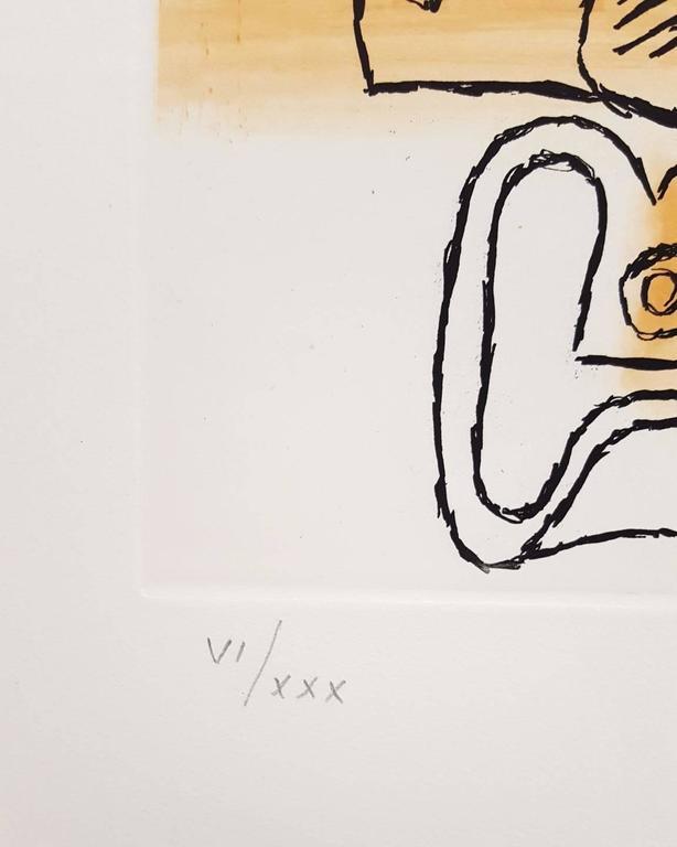 Unité, Planche 15 (Set of 2) - Surrealist Print by Le Corbusier