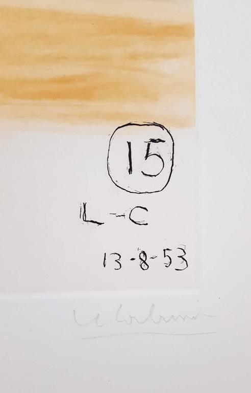 Unité, Planche 15 (Set of 2) - Beige Abstract Print by Le Corbusier