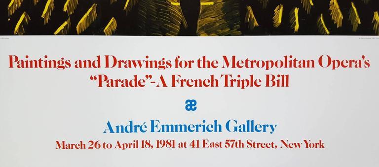 Set for Parade - Contemporary Print by David Hockney