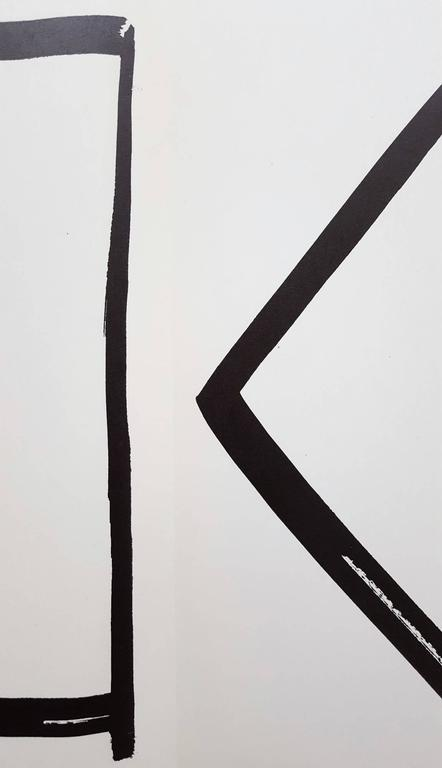 Derrière Le Miroir No. 149 (page 4, 13) - Gray Abstract Print by Ellsworth Kelly