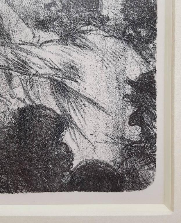La Halle aux Draps. Cracovie - Gray Figurative Print by Henri de Toulouse-Lautrec