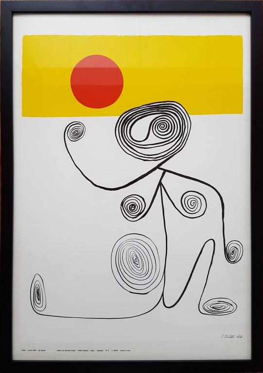Untitled (Wire Figure) - Print by Alexander Calder