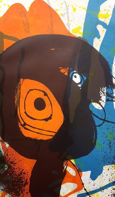 Sobreteixims - Beige Abstract Print by Joan Miró