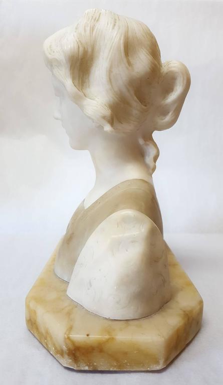 Meditazione - Gray Figurative Sculpture by Giuseppe Bessi