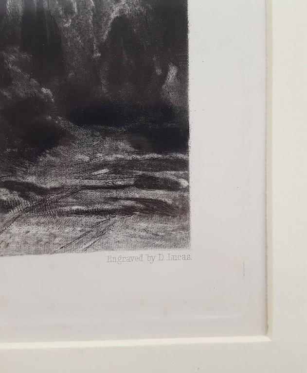 An original copper plate mezzotint engraving on wove paper after a painting by English artist John Constable (1776-1837) titled