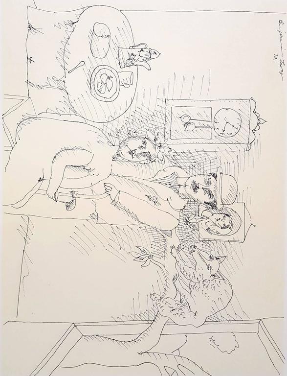 Miami Museum of Modern Art: Benjamin Levy - Beige Figurative Print by Benjamin Levy