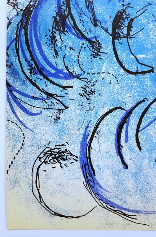 An original lithograph on wove paper by Russian-French artist Marc Chagall (1887-1985) titled