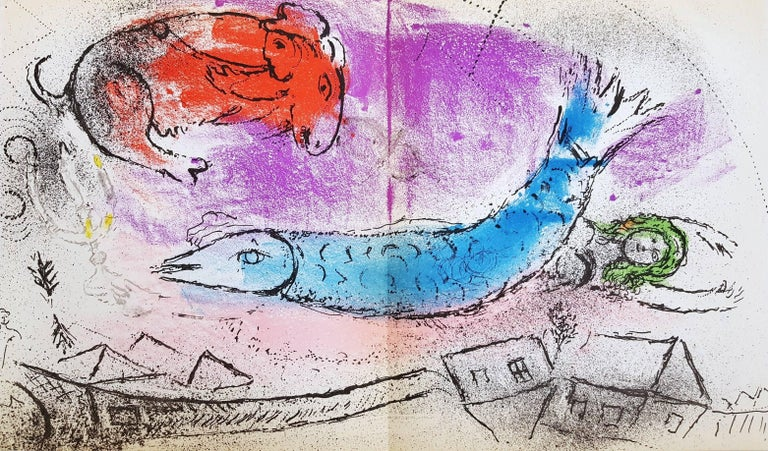 Marc Chagall Animal Print - The Blue Fish