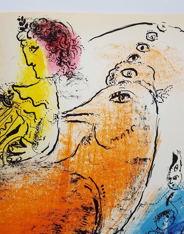 The Accordionist - Print by Marc Chagall