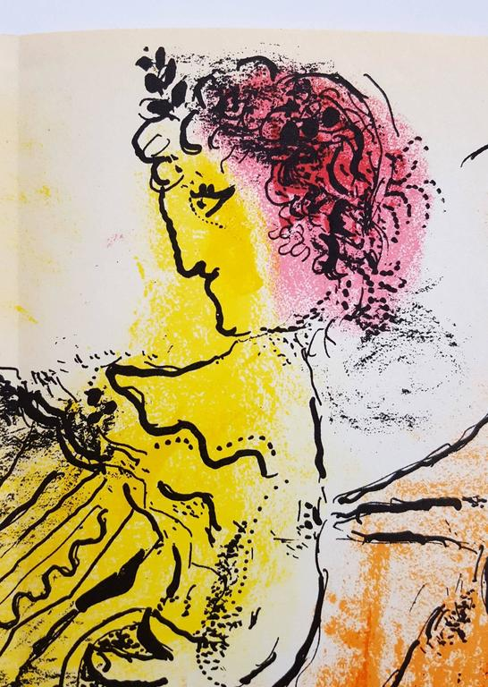 "An original lithograph by Russian-French artist Marc Chagall (1887-1985) titled ""The Accordionist"", 1957. Limited edition: 6,000. With fold in middle as published by Jacques Lassaigne in ""Chagall Graveurs"" in 1957. Printed by"