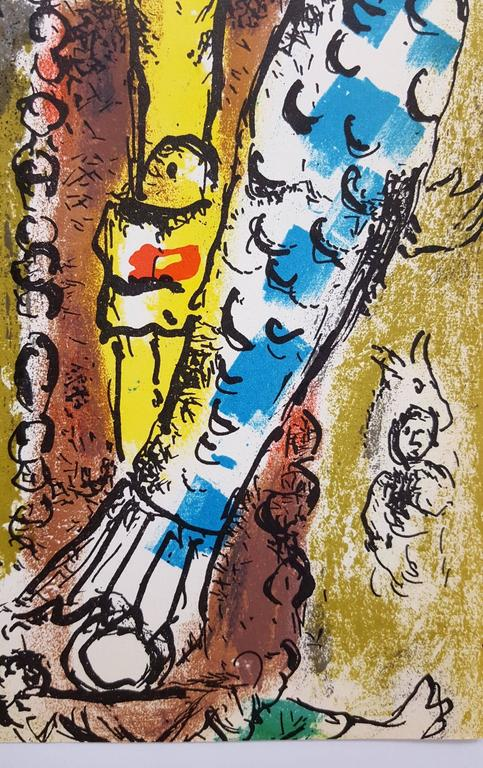 "An original lithograph by Russian-French artist Marc Chagall (1887-1985) titled ""Christ in the Clock"", 1957. Limited edition: 6,000. Published by Jacques Lassaigne in ""Chagall Graveurs"" in 1957. Printed by Mourlot, Maeght"