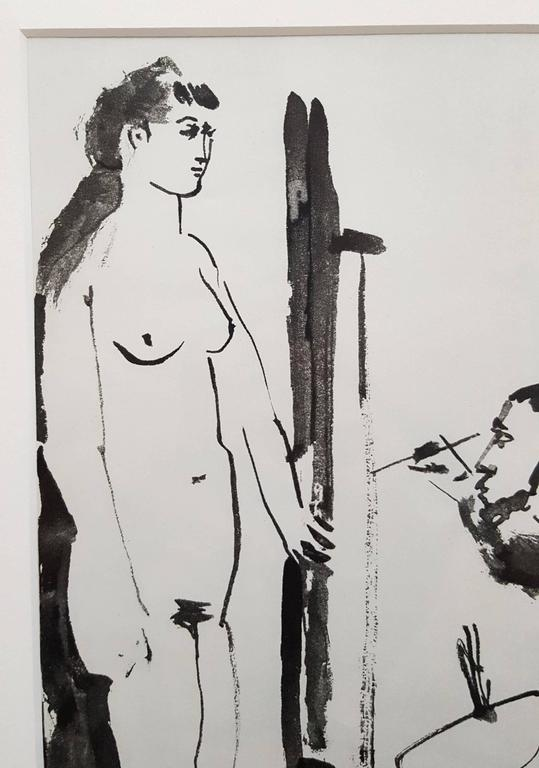La Comedie Humaine - Cubist Print by (after) Pablo Picasso