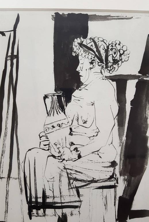 La Comedie Humaine - Gray Figurative Print by (after) Pablo Picasso