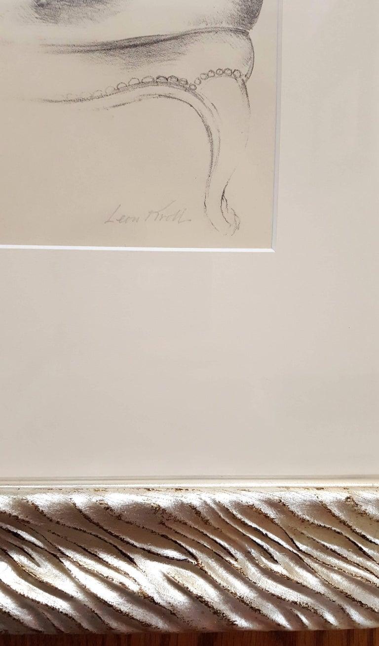 Monique - Gray Figurative Print by Leon Kroll