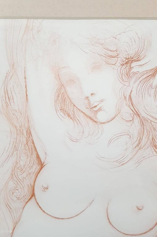 Nu au Sopha (Young Woman Arising) (A.F.158.70G) - Gray Nude Print by Salvador Dalí