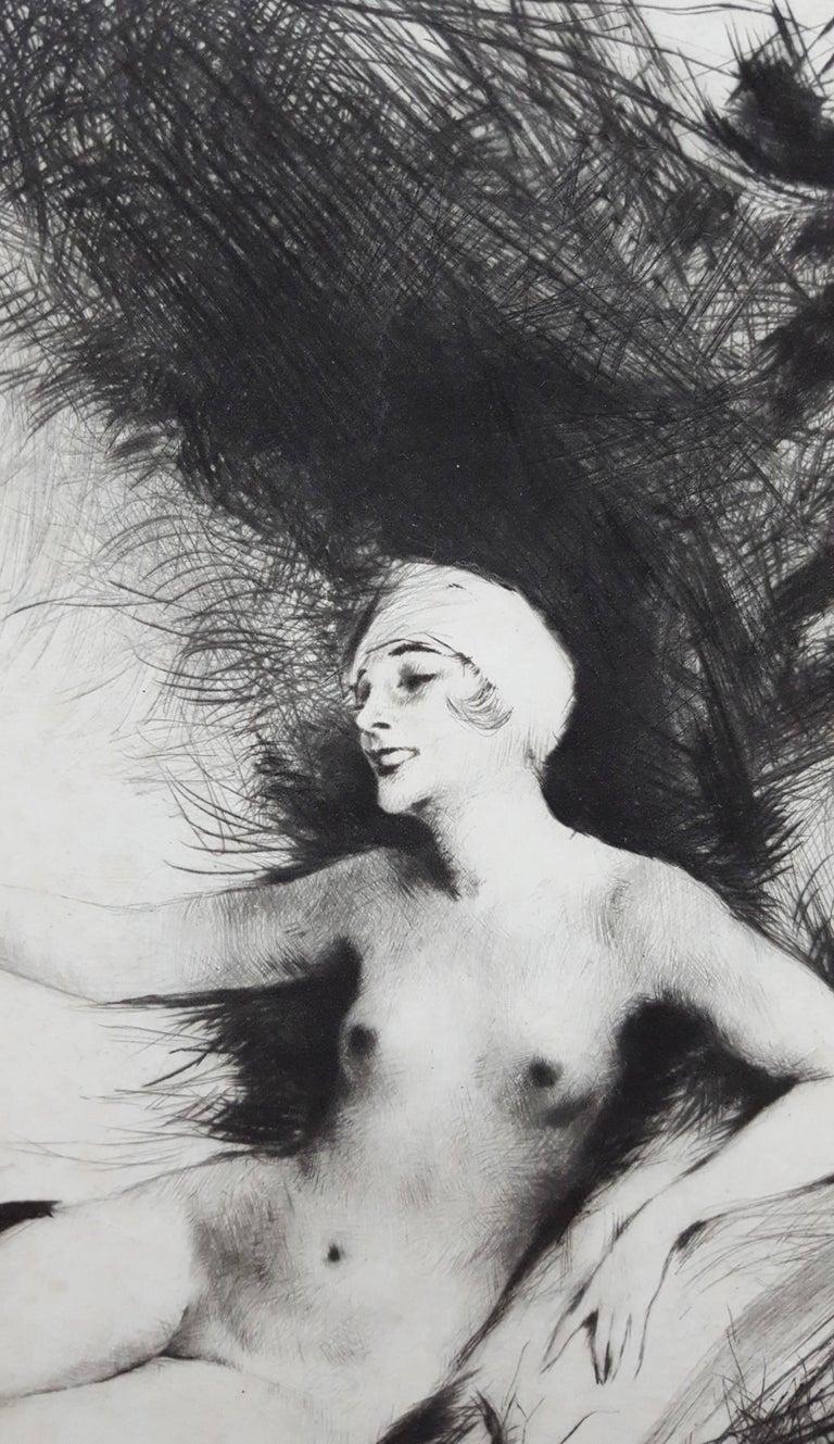Danae - Gray Nude Print by Carl Joseph Bauer