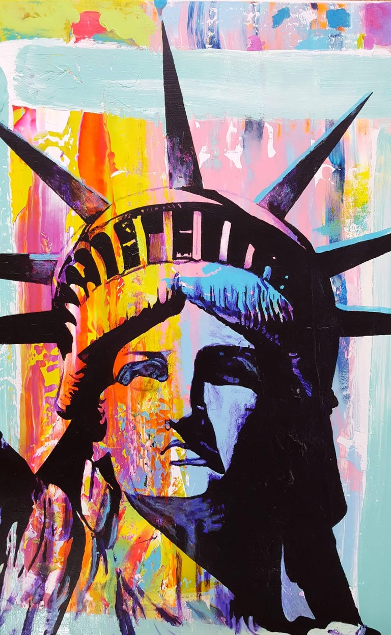 Liberty Icon - Contemporary Painting by Jack Graves III