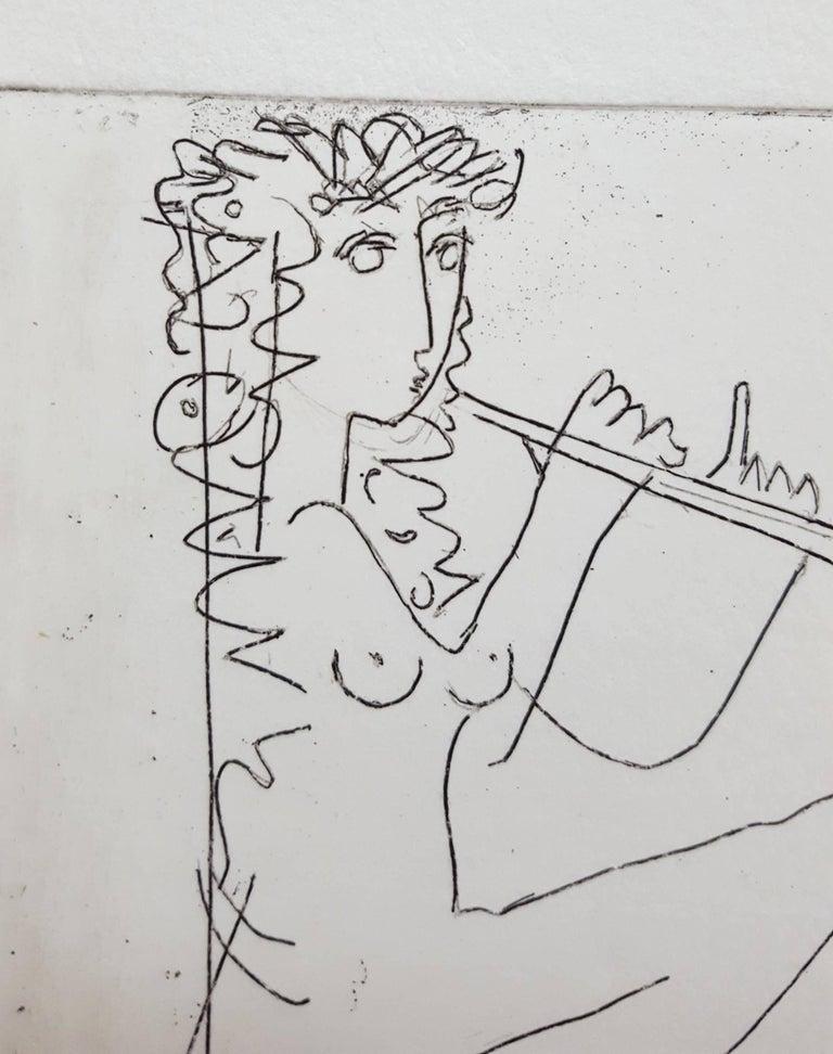An original signed etching on heavy wove paper by German artist Albrecht Steinert (1925-?) titled