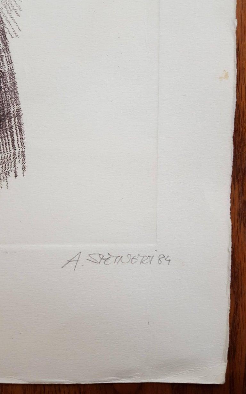 Daphne - Gray Nude Print by Albrecht Steinert