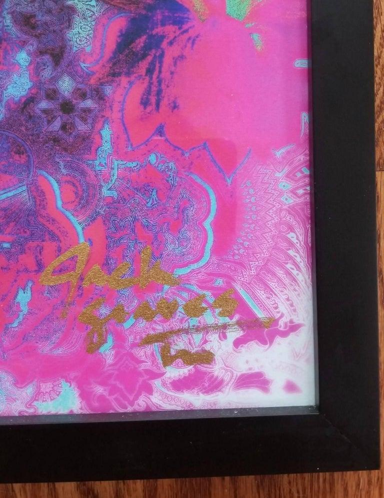 Lotus Flower - Purple Abstract Print by Jack Graves III