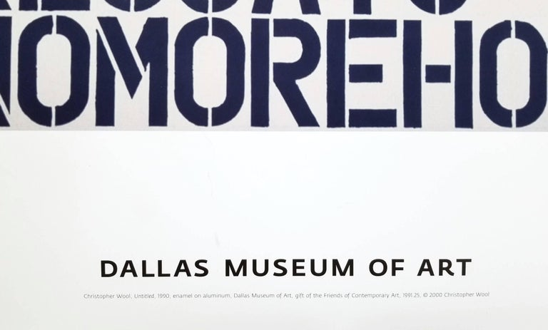 Dallas Museum of Art - Abstract Print by (after) Christopher Wool