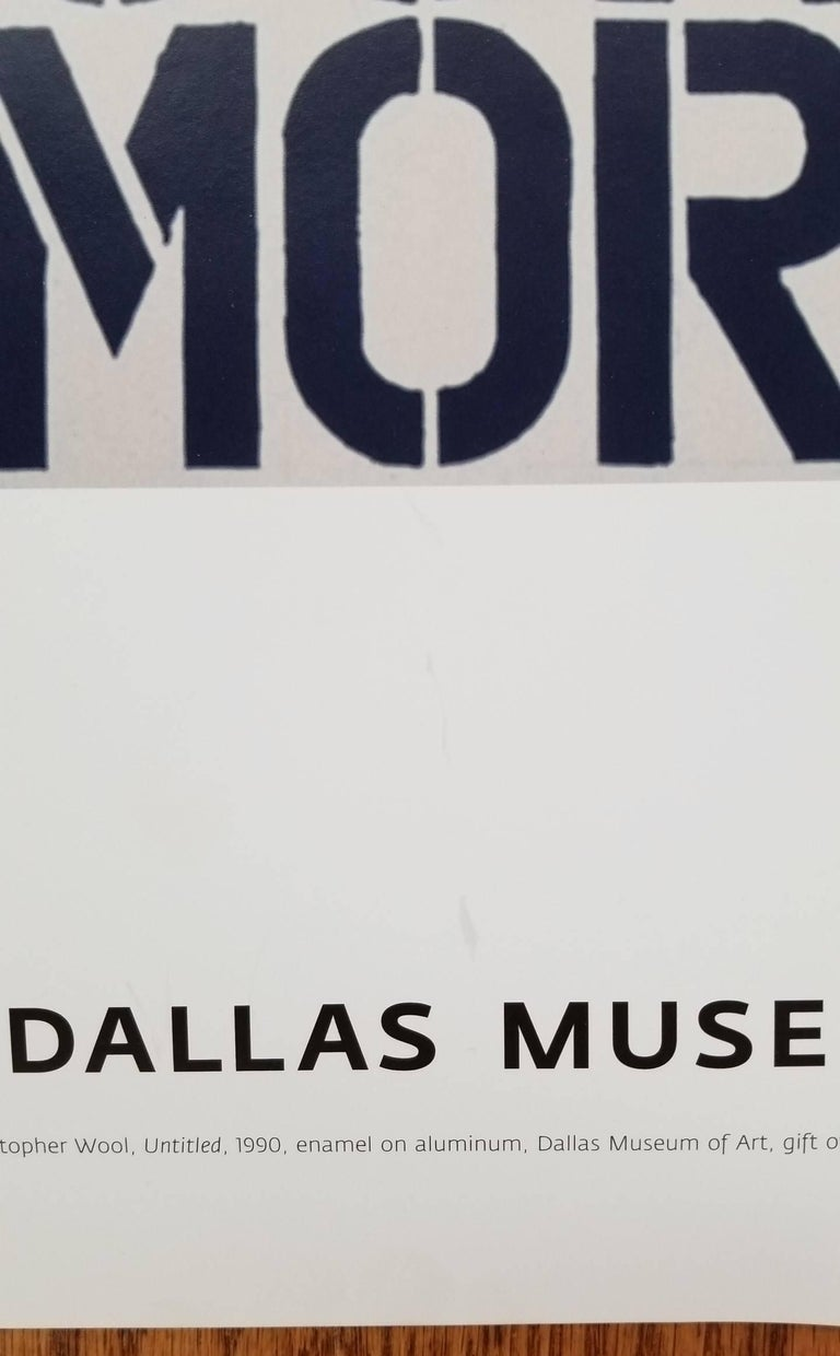 Dallas Museum of Art - Gray Abstract Print by (after) Christopher Wool