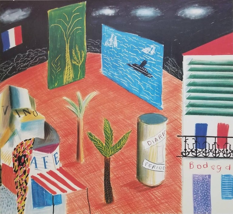 The New World Festival of the Arts - Print by (after) David Hockney