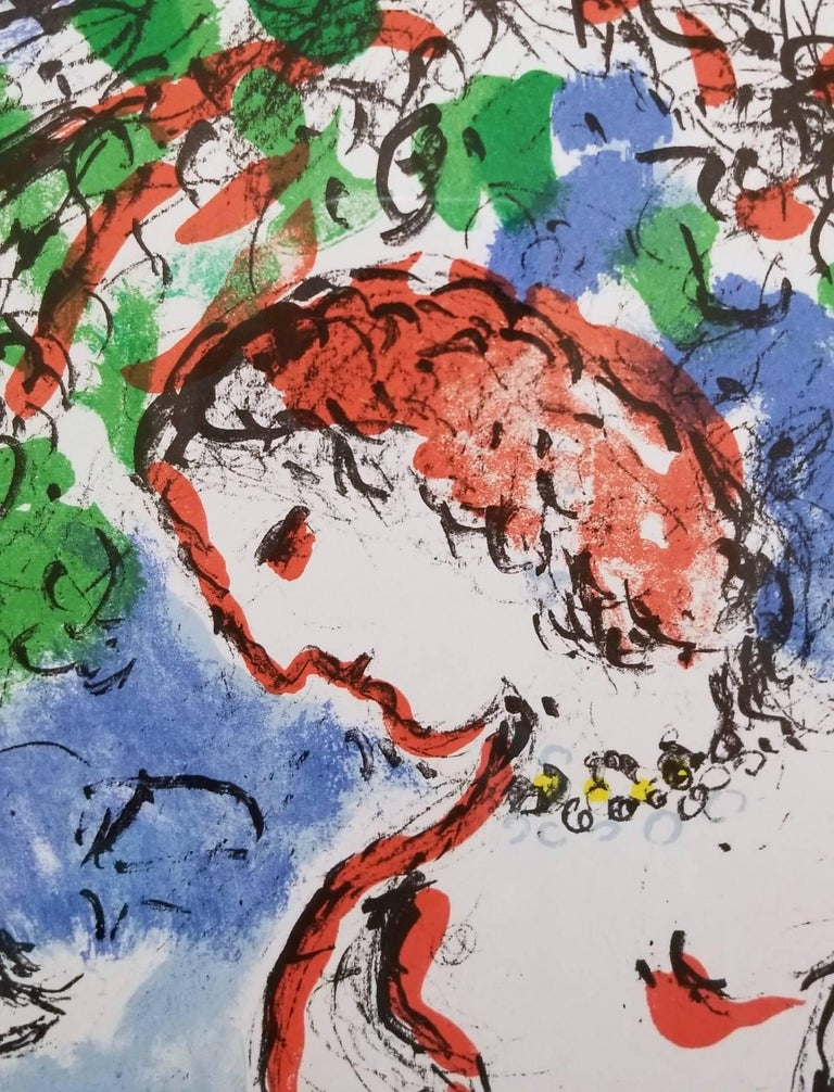 An original one page lithograph on white wove paper by Russian-French artist Marc Chagall (1887-1985) titled