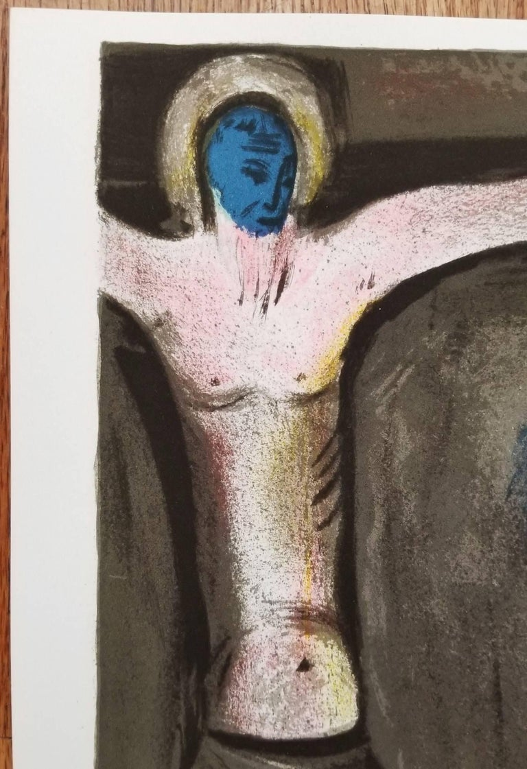 Mystical Crucifixion - Black Figurative Print by Marc Chagall