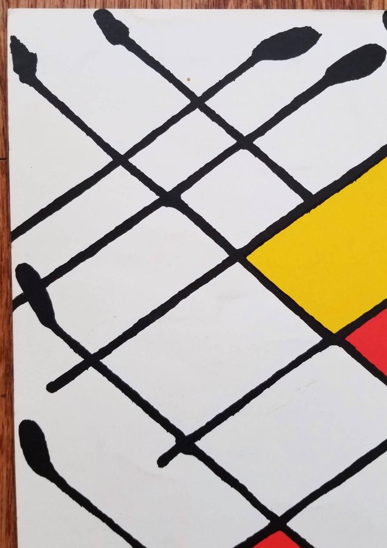 "An original one page lithograph on smooth wove paper by American artist Alexander Calder (1898-1976) titled ""Derrière le Miroir No. 156 (Damier)"", 1966. Edition issued by Galerie Maeght for ""Derrière le Miroir No. 156""."