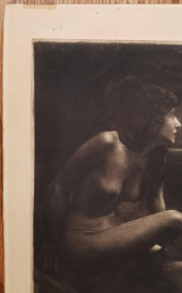 An original signed mezzotint etching on heavy wove paper by German artist Georg Jahn (1869-1940) titled