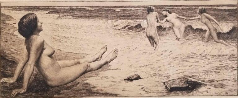 Georg Jahn Nude Print - By the Sea