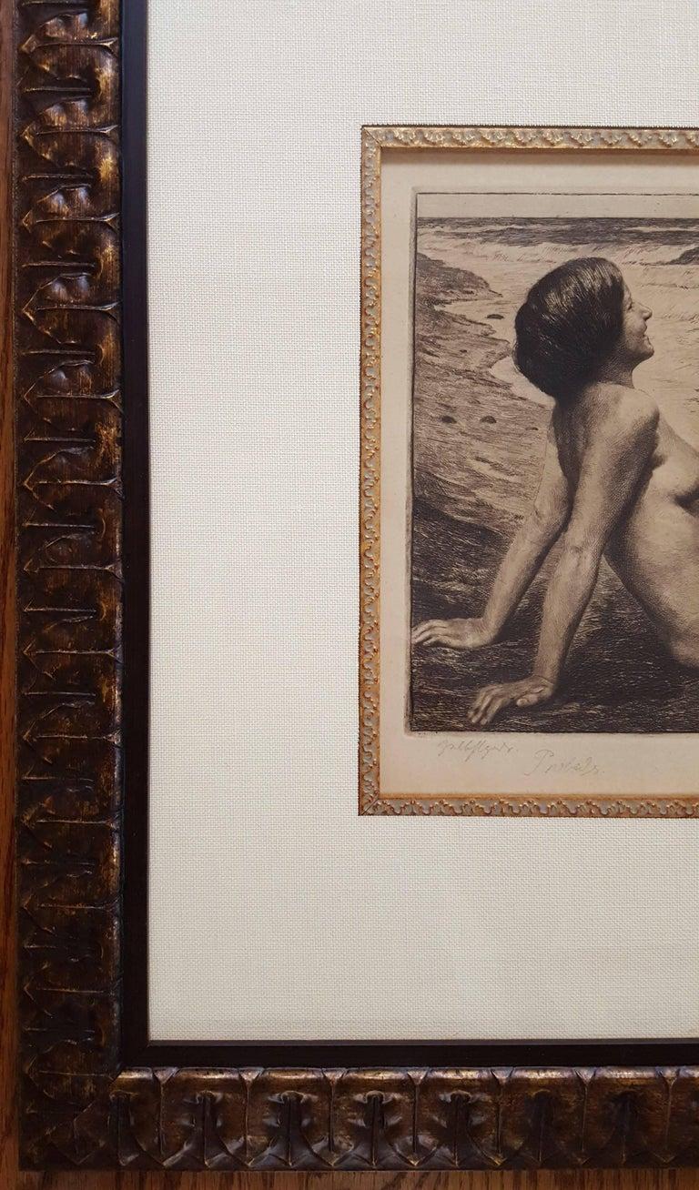 By the Sea - Art Nouveau Print by Georg Jahn