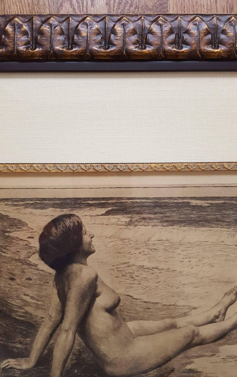 An original signed etching  on heavy wove paper by German artist Georg Jahn (1869-1940) titled