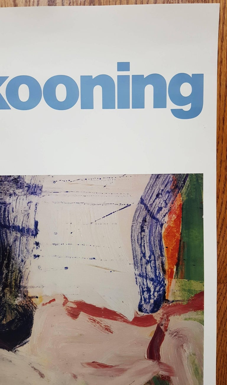 An original offset-lithograph exhibition poster after Dutch-American artist Willem De Kooning (1904-1997) titled