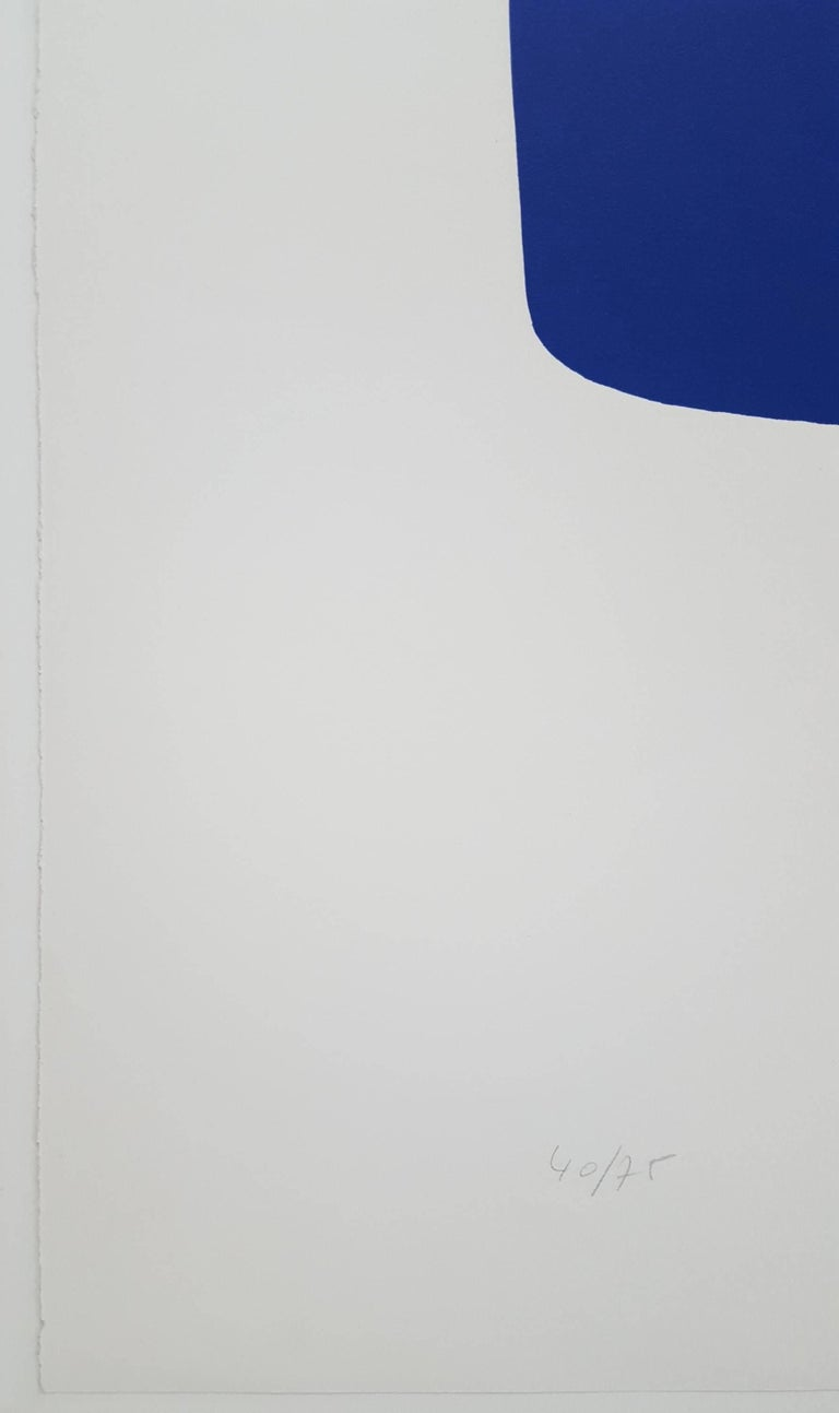 Dark Blue with Red (VI.7) - Print by Ellsworth Kelly