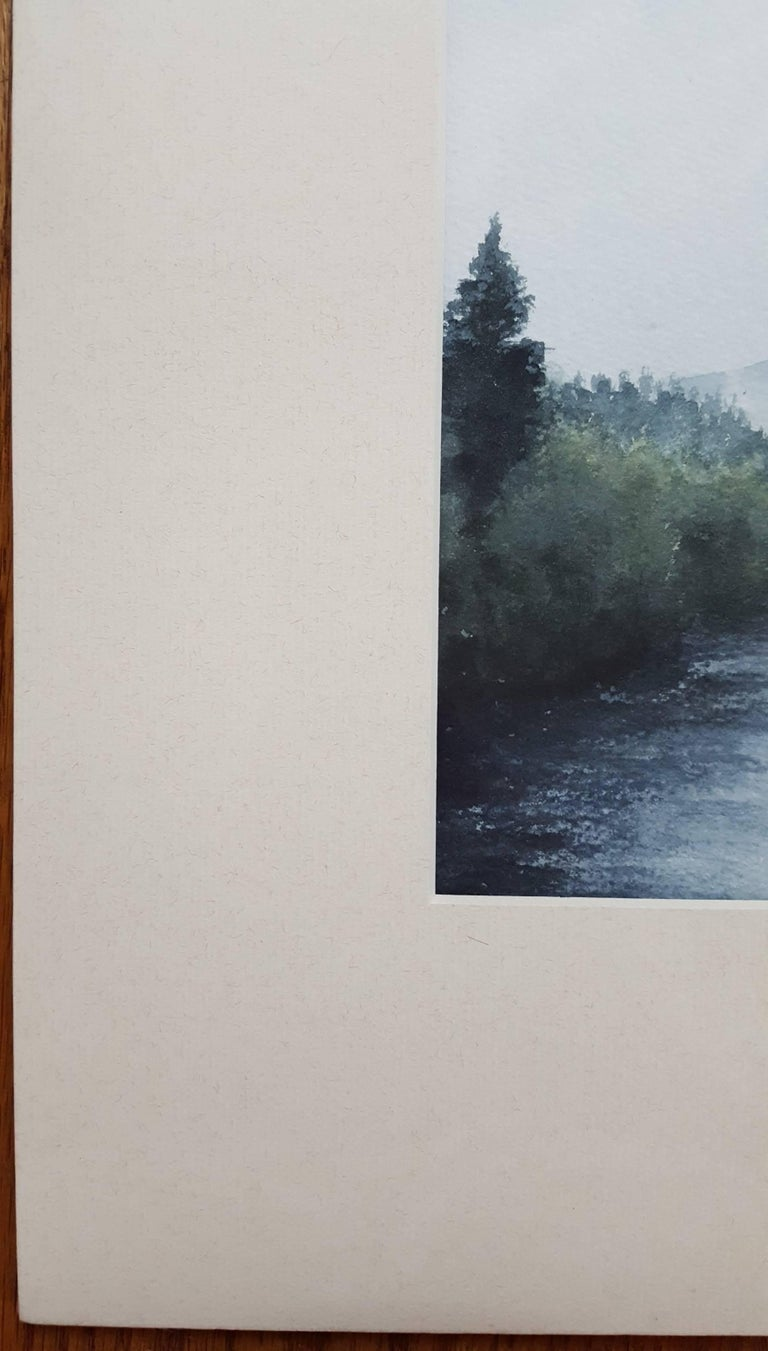 Fishing on the River Tay - Contemporary Art by Gillie Cawthorne